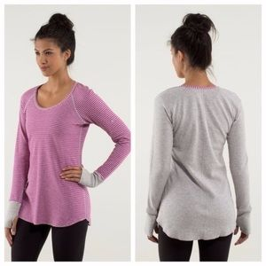 Lululemon Open Your Heart reversible long sleeve